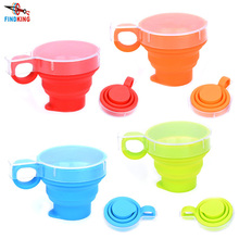 FINDKING Portable Collapsible Candy Color Silicone Folding Cup Travel Outdoor Hiking Sports Camping Travel Retractable Mug