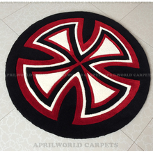 Brief fashion circle carpet computer chair swivel chair blanket modern sofa table mats bed blankets(China)