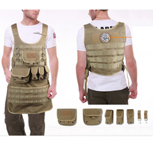 Tactical Vest Apron Molle Military Army Manufacturing Machining Generic Repair Waterproof Wear 1000D Oxford Cloth Apron tatico(China)