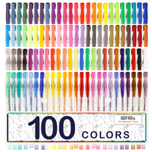 100 Gel Pens Set Pen Glitter Neon Metallic Color Art Coloring Books Colors Craft Best gift present acrylic Paint brush Z9001(China)