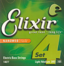 Elixir NANOWEB 14077/14777 Electric Bass Strings 4/5 Strings Ultra Thin Coating Steel Stings 045-105(045-130)