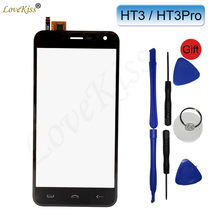"Buy 5"" HT3 Pro Touchscreen Front Panel Homtom HT3 HT3Pro Touch Screen Sensor LCD Display Digitizer Outer Glass Lens Replacement for $6.59 in AliExpress store"