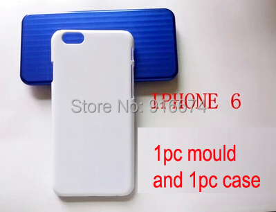 Free shipping 1pc Aluminum iphone6 mould + 1 pc blank iphone6 case  for 3D sublimation heat press<br>