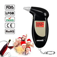2016 Free shipping Red Backlight Digital Alcohol Tester 3 Digits LCD display, Used mouthpiece Breathalyzer(China)
