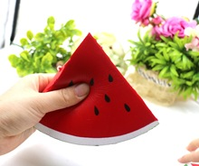 14CM Jumbo Watermelon Mobile Phone Straps Squishy Slow Rising Keychain Fun Fruit Scented Pendant Anti-stress Kid Toy(China)