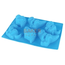 Silicone cake mold 6 holes dinosaur silicone jelly pudding mold silicone handmade soap mold CDSM-300(China)