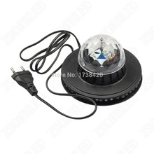 2015 NEW Product 5pcs/lot Mini Rotating RGB Light 48 LEDs Sunflower AC100-240V LED Stage Light For Party,Bar,DJ,Holiday(China)