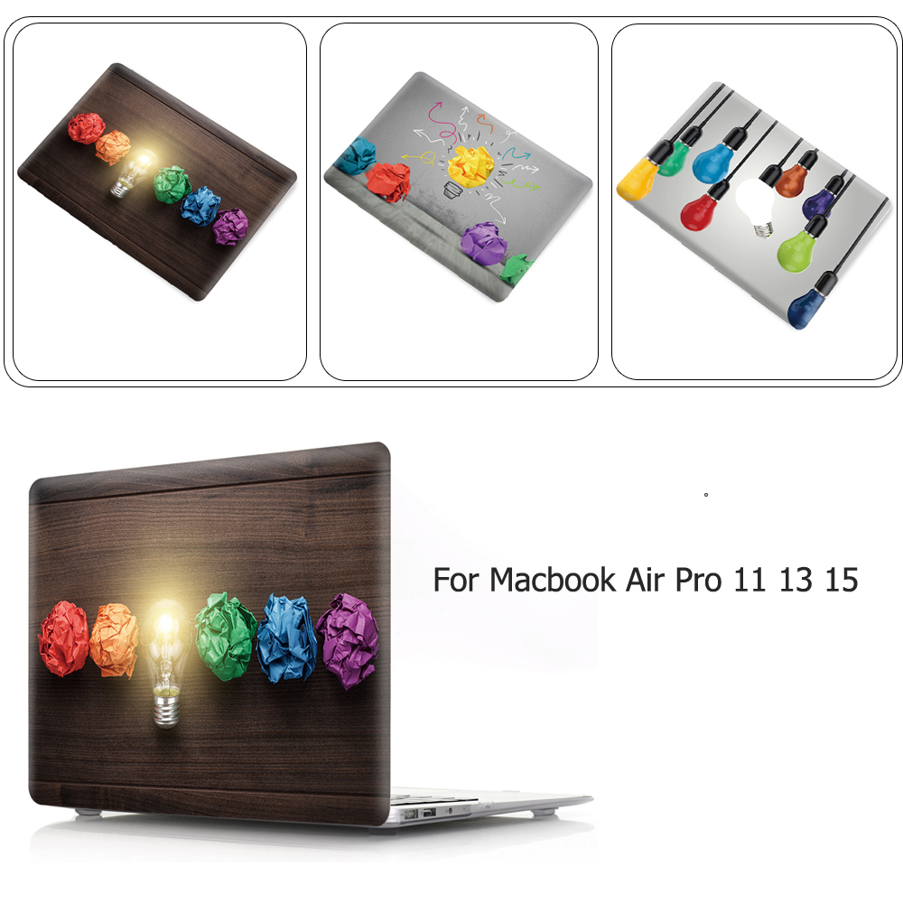 Light Bulb Design Hot PVC Replace Shell Case For Apple Macbook Air Pro Retina 11 12 13 15 Case Cover For Mac Pro 12 13.3 15.4 PC