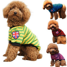 2016 New Summer Service Pet Dog Vest Shirts Clothing Puppy Dog Cotton Striped Vests T-shirt Coat Clothes Small Dogs Costumes