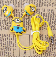 Cool gift Cartoon Anime Earphone Minion despicable Me 3.5mm birds Headphones For i Phone Mobile Phone MP3 player Computer kids