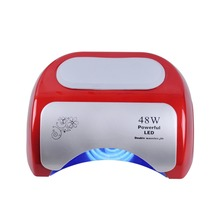 TOOL-BB-262 red  Diamond nail 48 w LED + CCFL double induction phototherapy machine UV nail polish glue heat lamp