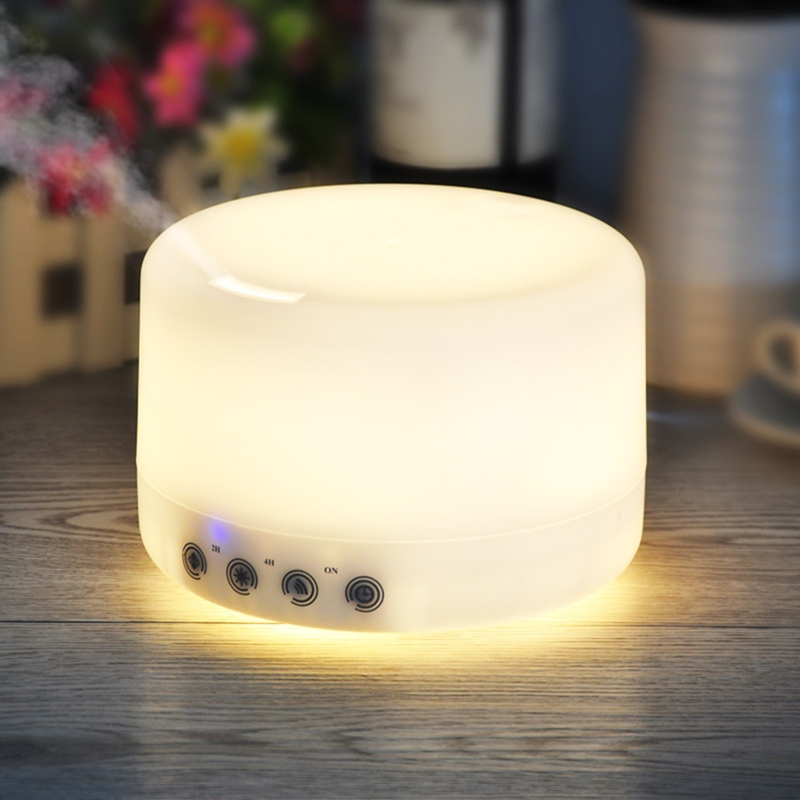 500/1000ml Touch Botton Air Purifier LED Color Change Ultrasonic Aromatherapy Essential Oil Diffuser Air Humidifier Moistener<br>