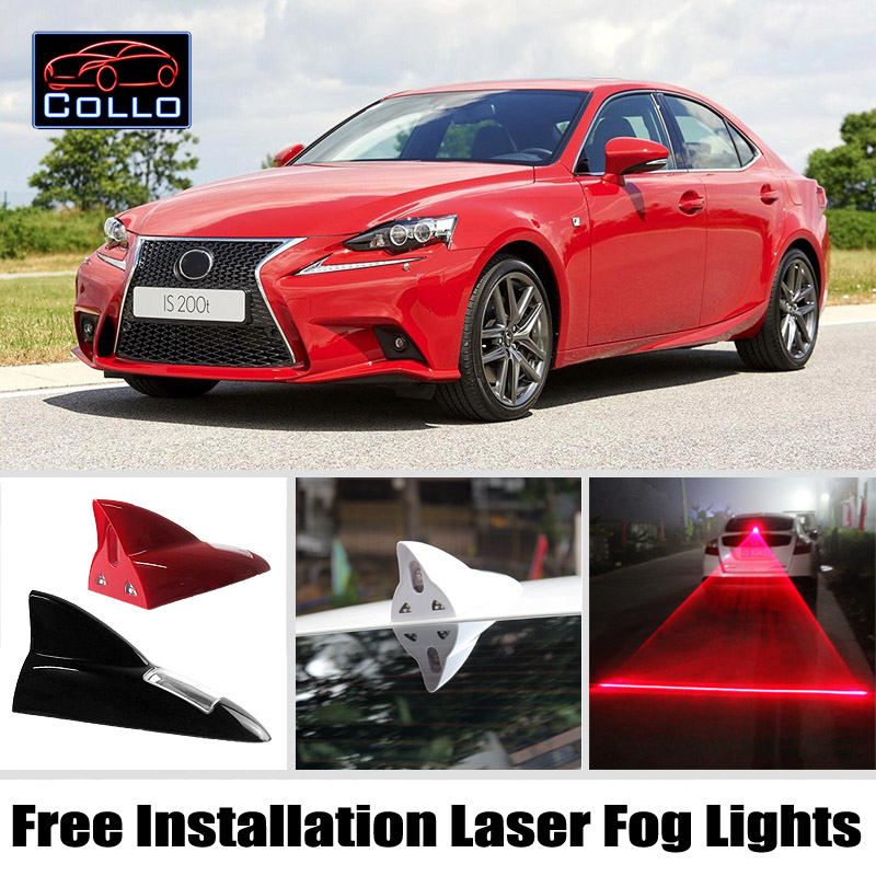 For Lexus IS 200 250 300 350 Sedan / Free Installation Solar Energy Shark Fin Laser Fog Lamp / Multiple Mode Warning Lights<br><br>Aliexpress