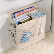 6 Pocket Bedside Storage Bag Hang Sundries Magazines phone Tissue Holder Sofa Organizer Mattress Book Remote Caddy Homewares