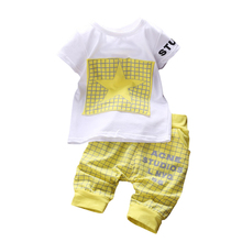 Children's New 2pce Suit Sets T-shirts+Shorts Baby Boys Casual Clothing Sets LQW851