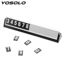 Buy YOSOLO Luminous Car Temporary Parking Card Hidden Auto Triangle Rotary Magnetic Phone Number Parking Plate Car-styling for $6.91 in AliExpress store