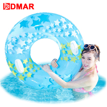 Intex Dream Star Swimming Ring Swim Circle With Handle 3 Colors Adults Inflatable Mattress Pool Float Toys Mat Beach Water Game(China)