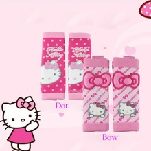 Hello kitty car accessories1 pair comfortable car safety seat belt shoulder pad cover cushion harness pad child restraints