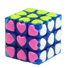 Stress Toy Cube Magic Cube Puzzle 3x3x3 Love Cube For Adult Kids Educational Toys Color Neo Cubo Magico 3x3x3 Mini 501945