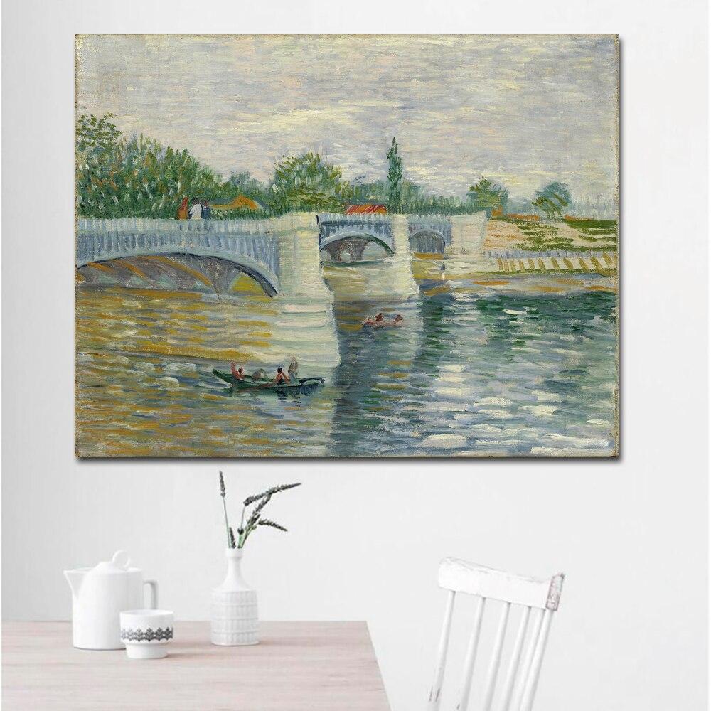 The Seine with the Pont de la Grande Jette-70x90