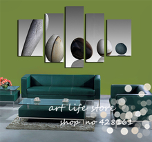 Free Shipping 5 PCS High Quality Perfect Looking Pebbles Cute In Heart 5 Panels Wall Art Picture Home Decorative