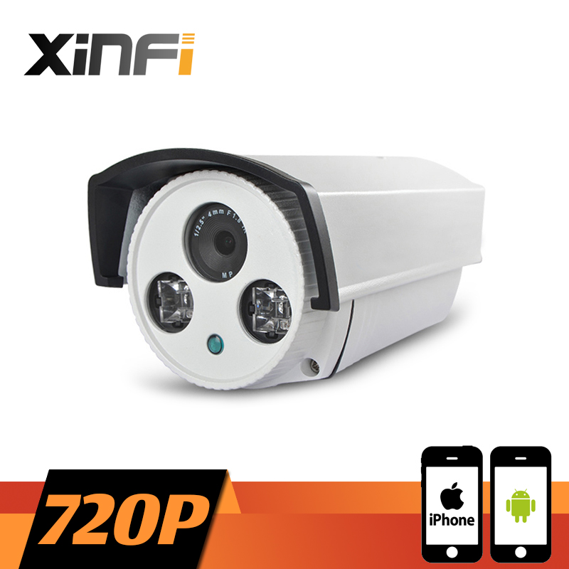 XINFI HD 720P Surveillance Camera 1.0 MP Outdoor Waterproof network CCTV IP camera P2P ONVIF 2.0 PC&amp;Phone remote view<br>