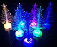 Christmas Decorations Flashing Christmas Tree LED flash fiber bar party celebration props candle lights lamp children toy gift
