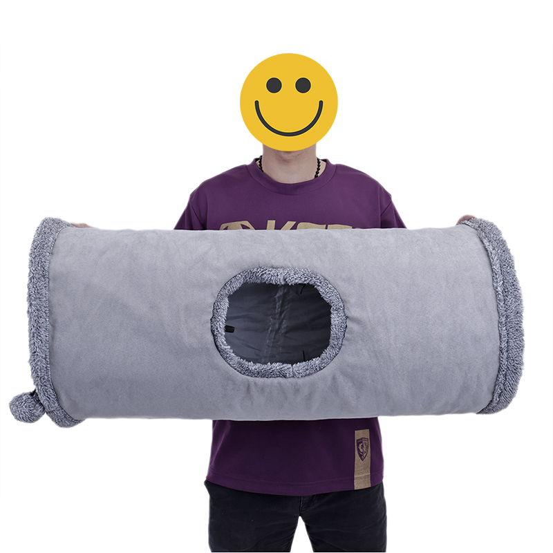 big cat tunnel big cat tunnel Big Long Cat Tunnel with Play Ball Suede Material-Free Shipping HTB1qyhUqBUSMeJjy1zkq6yWmpXax