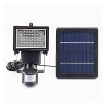 Split Type Solar Street Lamp 60 LED Floodlights Outdoor PIR Motion Sensor Wall Lamp Garden Path Light Porch Lanterns