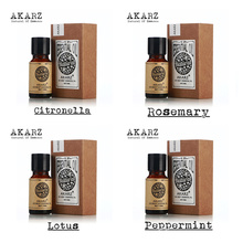 AKARZ Famous brand 100% Pure Citronella Rosemary Lotus Peppermint Oils Pack For Aromatherapy Massage Spa Bath 10ml*4(China)