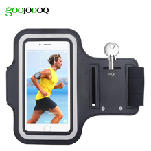 Waterproof Gym Sports Running Armband for IPhone 7 4 4S 5 5S 5C SE 6 6s Plus iPod Touch 5 Arm Band Phone Pouch Case Cover Holder