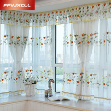 Window Tulle Curtain for Living Room Boys Girls Cartoon Children Cotton Linen Curtain Plant Ladybug Curtain for Bedroom(China)