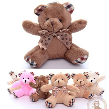 10cm 12cm metoo Teddy Bear Pendant Accessory Wedding Baby toy Plush Doll Stuffed Keychain car animal Ribbon bear lovely kid gift
