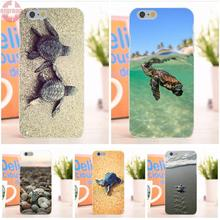 EJGROUP Soft TPU Silicon Phone Case For Apple iPhone 6 6S 4.7 inch Baby Sea Turtle(China)