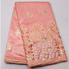 2017 Specially design Swiss voile lace fabric Peach African george lace embroidery george lace fabric for party dress  XY527B