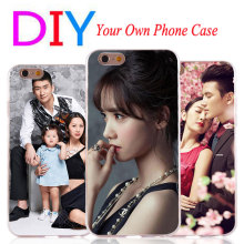 Customize Private Cases For Apple iPhone 4 4S 5 5S SE 5C Diy Personalize photo Hard Phone Shell Cover For iPhone 6 6S 7 plus(China)