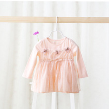 Spring 2016 children's wear dress manufacturers selling lovely girls all-match children dress coat color for girls baby(China)