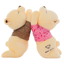 Kawaii Cute White Love Teddy Bear Plush Toys High quality Soft Teddy Bear Stuffed Dolls Baby Toy Kid Toy  Kids Gift  Toys