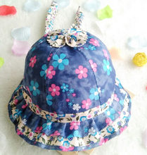 Free Shipping!2016 New Toddler Infant Floral sun cap Spring Summer Outdoor Baby girls sun Beach Bucket Hat(China)