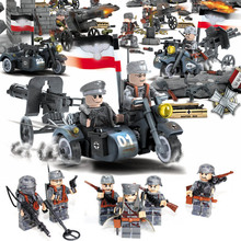 World War II Custom WW2 German Blitzkrieg R12 Motorized Infantry Regiment Army Building Blocks Bricks Military Toy 71003 For boy(China)