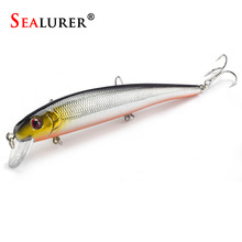 New Arrivals SEALURER Hot model fishing lures 13cm/19g swimbait jointed bait minnow 5 different colors crank minnow bait(China)