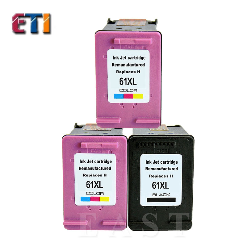 For HP61XL Ink Cartridge For HP 61XL hp 61 xl (BK+2C)For DESKJET 1051 1055 1056 2050 2512 3050 2510 3000 3512 3056A E-ALL-IN-ONE<br><br>Aliexpress
