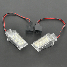 2Pcs 12V Car LED Courtesy Door Projector Light For Audi A3/A4/A6/VW/Skoda Foot Nest Lights Ghost Shadow Light Lamp 6500K White(China)
