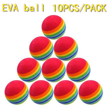 Wholesale 10PCS/PACK, Golf equipment indoor exercise rainbow golf ball Free shipping(China)