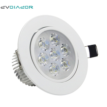 DVOLADOR Dimmable AC85V-265V 7W/5W/4W/3W LED Downlight Warm White/White Spot Light Cree Ceiling Recessed Home Lighting Fixture