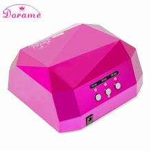Dorame Diamond 36W UV Lamp CCFL+Led Nail Dryer Time Settings for Nail Gel Curing UV Gel Led Gel Removable bottom plate Nail Arts