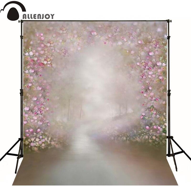 Allenjoy vinyl backdrops for photography Hazy pink flower fantasy photo background childern baby photoll christmas<br><br>Aliexpress