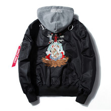 Than 2017 day pilot jacket cartoon embroidered tide men's MA1 jacket spring military flight tactics masked men's jacket coat mal(China)