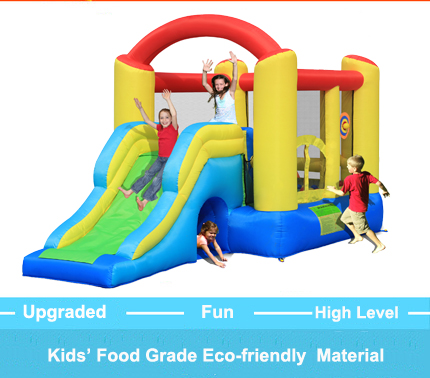 Giant Slide Inflatable Castle Jumping Bouncer Obstacle Course Bouncy Castle Kids Outdoor trampoline Play Toys and Games(China (Mainland))