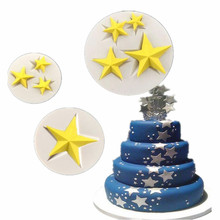 Three kinds of Stars Shaped Silicone Cake Mold Kitchen Baking Mold Sugar Craft Fondant Cake Tools Cake Decoration Mold(China)